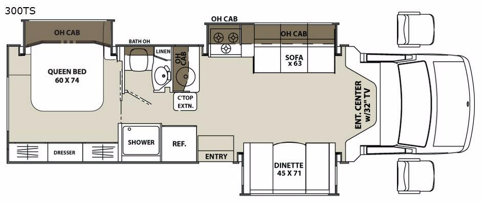 Concord 300TS Chevy Floorplan Image