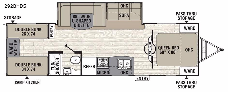 Freedom Express Liberty Edition 292BHDS Floorplan Image