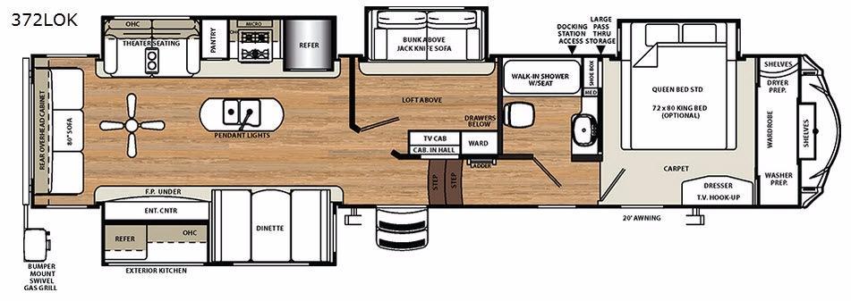 Sierra 372LOK Floorplan Image