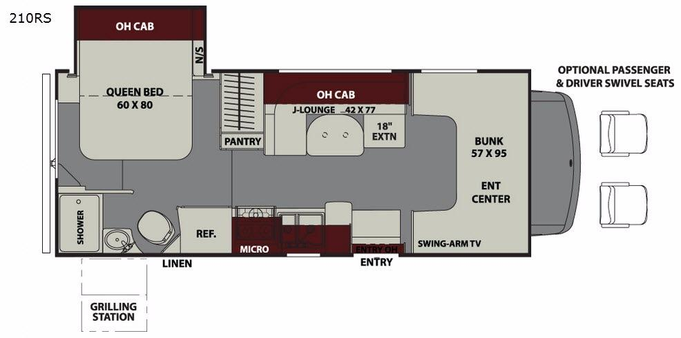 Leprechaun 210RS Ford 350 Floorplan Image