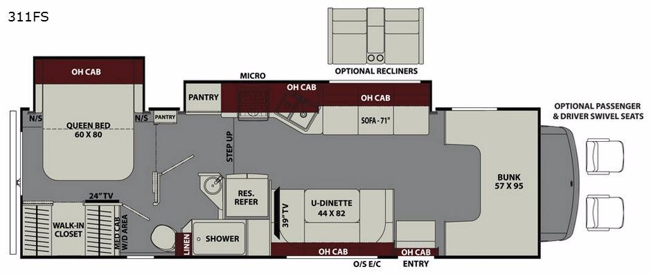 Leprechaun 311FS Ford 450 Floorplan Image