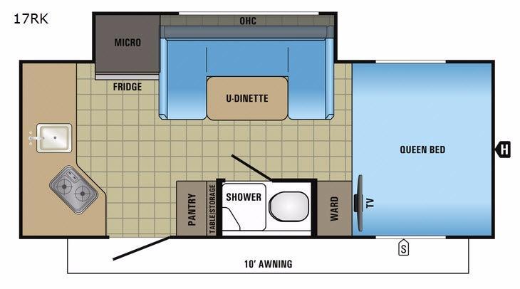 Hummingbird 17RK Floorplan Image