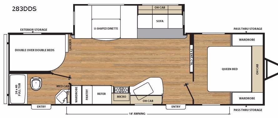 Catalina Legacy 283DDS Floorplan Image