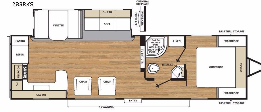 Catalina Legacy 283RKS Floorplan Image