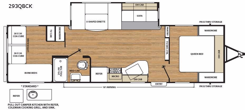 Catalina Legacy 293QBCK Floorplan Image