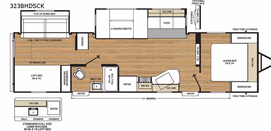 Catalina Legacy 323BHDSCK Floorplan Image