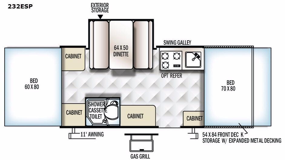 Rockwood Extreme Sports 232ESP Floorplan Image