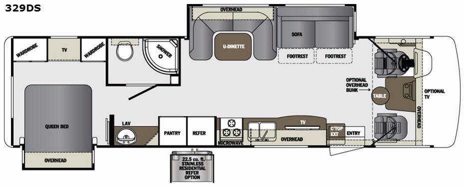 Georgetown 329DS Floorplan Image