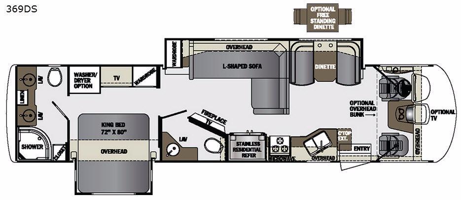 Georgetown XL 369DS Floorplan Image