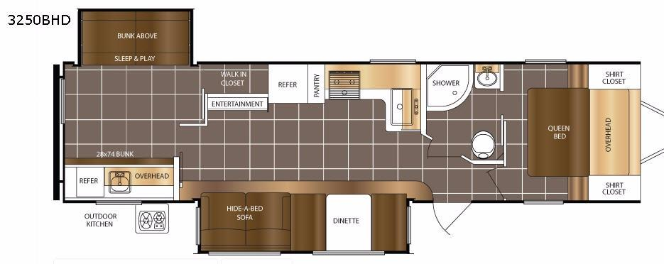 Tracer 3250BHD Floorplan Image