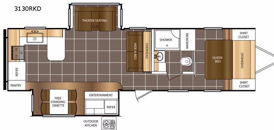 Tracer 3130RKD Floorplan Image