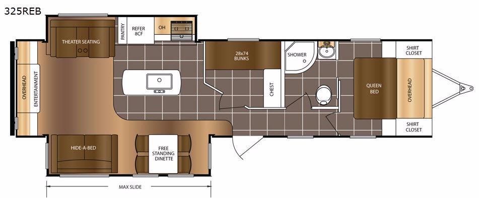 LaCrosse 325REB Floorplan Image