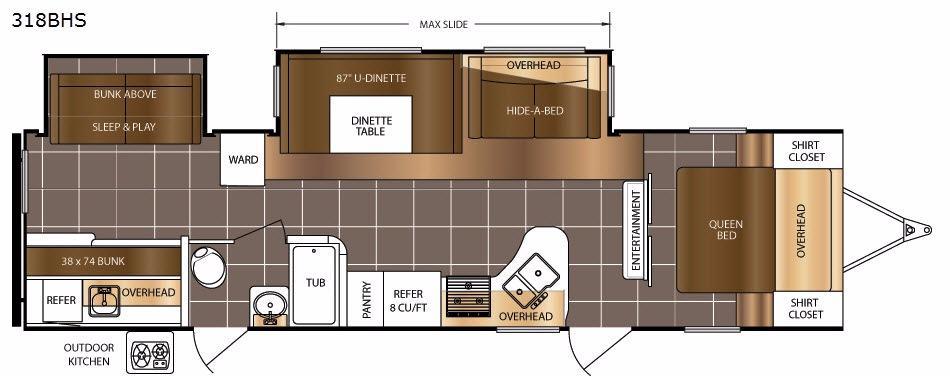LaCrosse 318BHS Floorplan Image