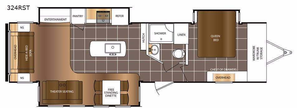 LaCrosse 324RST Floorplan Image