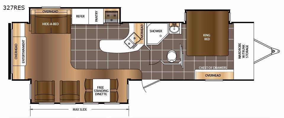 LaCrosse 327RES Floorplan Image