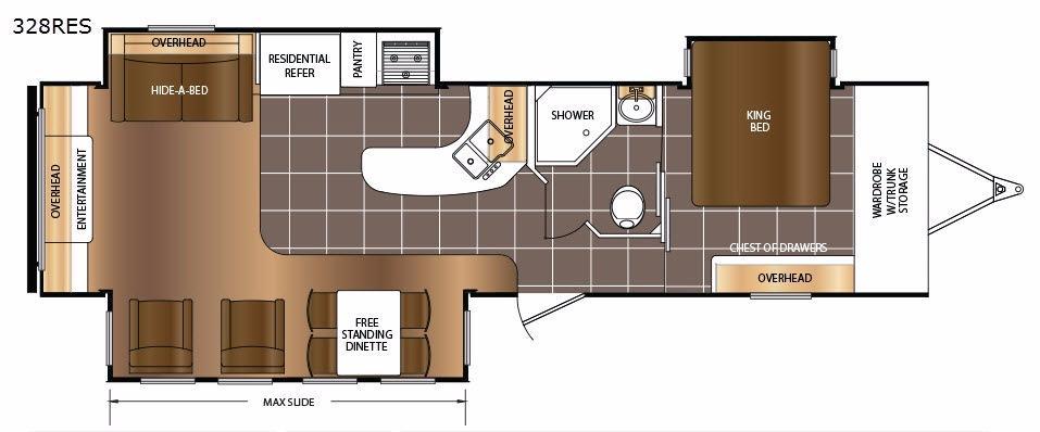 LaCrosse 328RES Floorplan Image