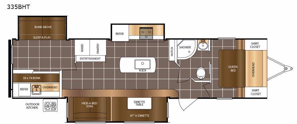 LaCrosse 335BHT Floorplan Image