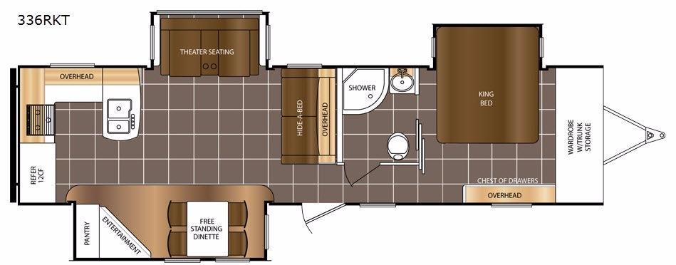 LaCrosse 336RKT Floorplan Image