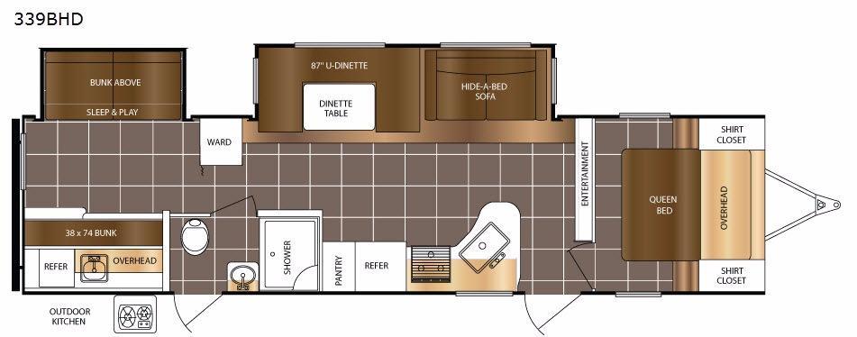 LaCrosse 339BHD Floorplan Image