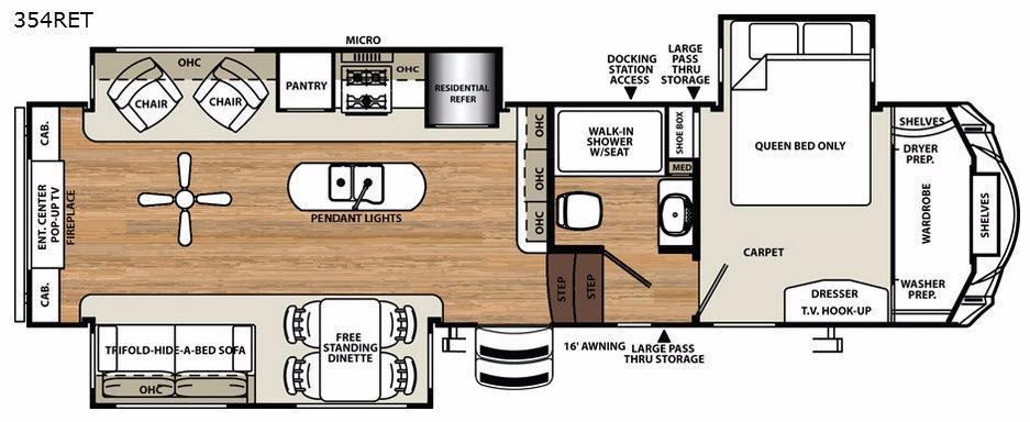 Sandpiper 354RET Floorplan Image