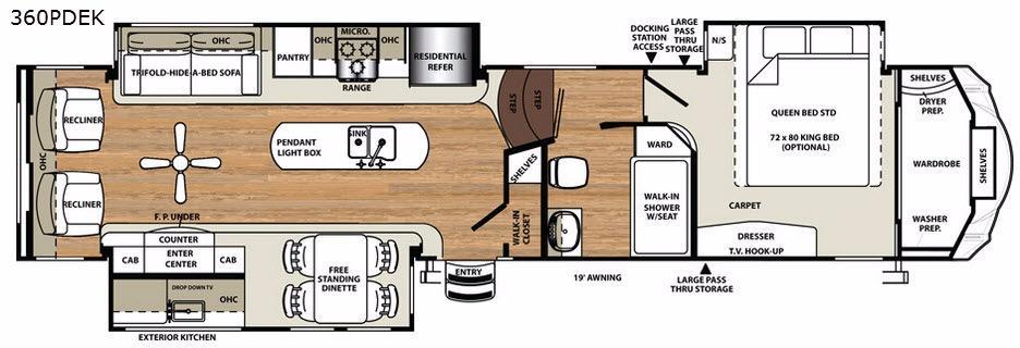 Sandpiper 360PDEK Floorplan Image