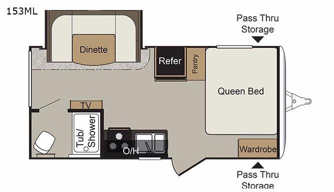 Passport 153ML Express Floorplan Image