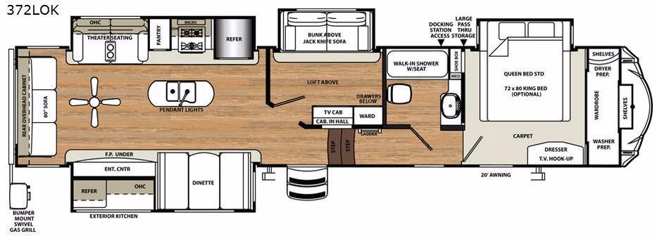 Sandpiper 372LOK Floorplan Image