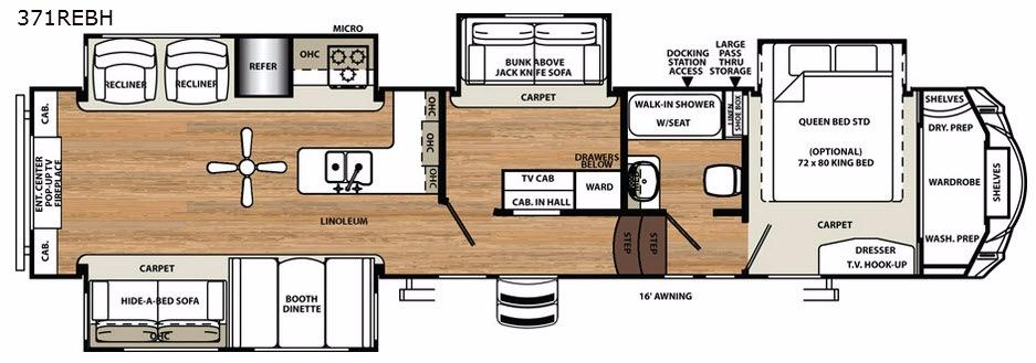 Sandpiper 371REBH Floorplan Image