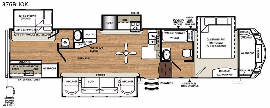 Sandpiper 376BHOK Floorplan Image