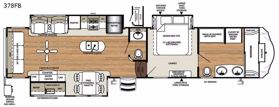 Sandpiper 378FB Floorplan Image