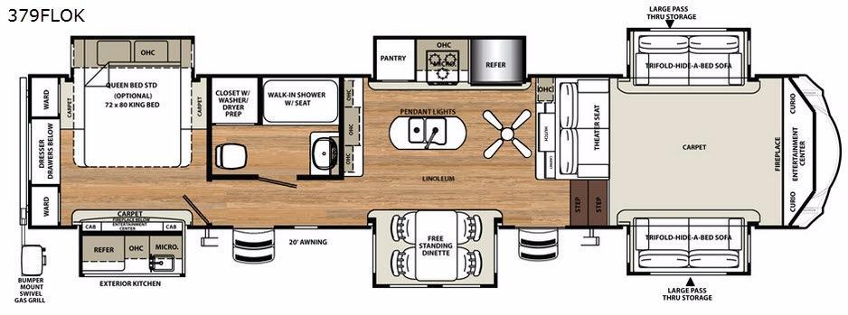Sandpiper 379FLOK Floorplan Image