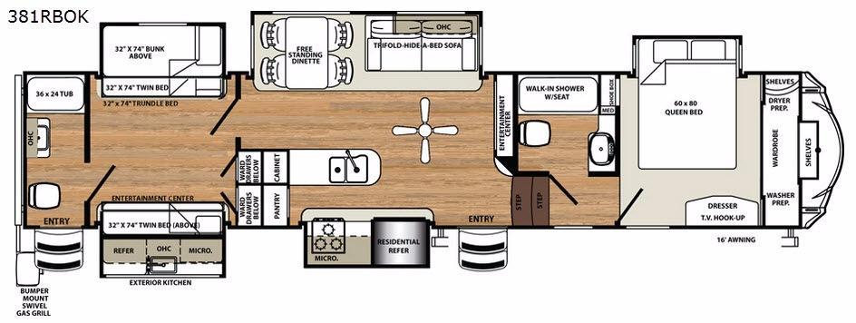 Sandpiper 381RBOK Floorplan Image