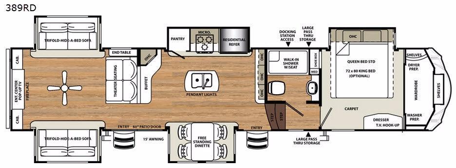 Sandpiper 389RD Floorplan Image