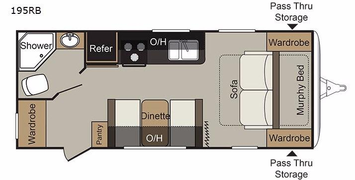 Passport 195RB Express Floorplan Image