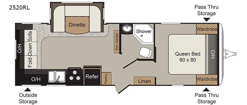 Passport 2520RL Grand Touring Floorplan Image