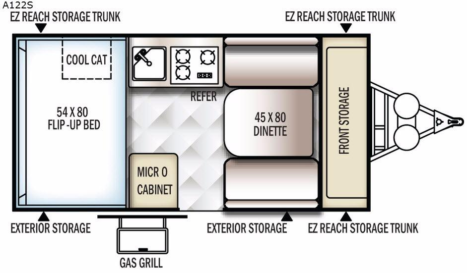Rockwood Hard Side Series A122S Floorplan Image