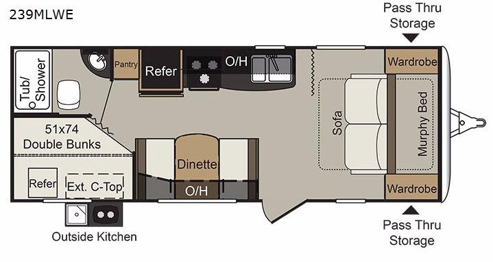Passport 239MLWE Express Floorplan Image