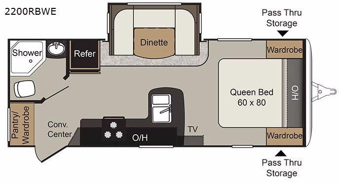 Passport 2200RBWE Grand Touring Floorplan Image