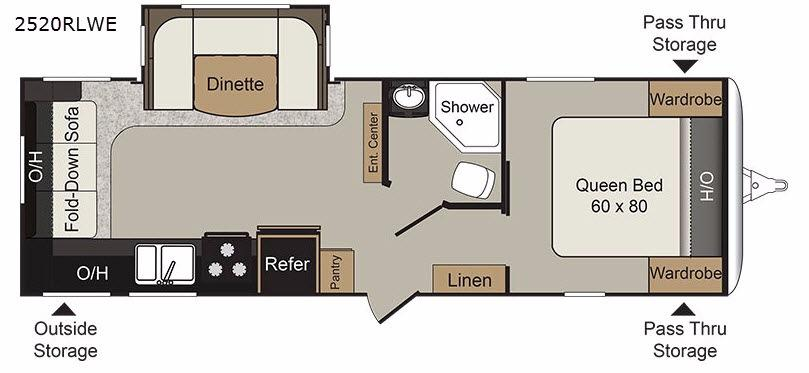 Passport 2520RLWE Grand Touring Floorplan Image