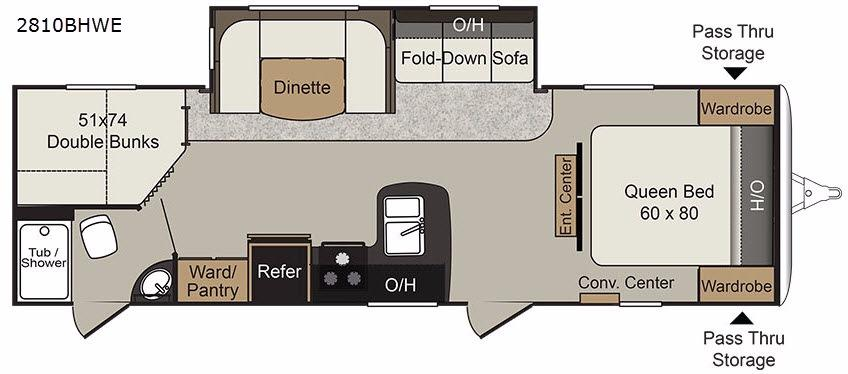 Passport 2810BHWE Grand Touring Floorplan Image