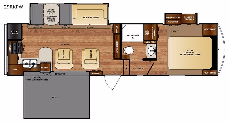 Black Diamond 29RKPW Floorplan Image