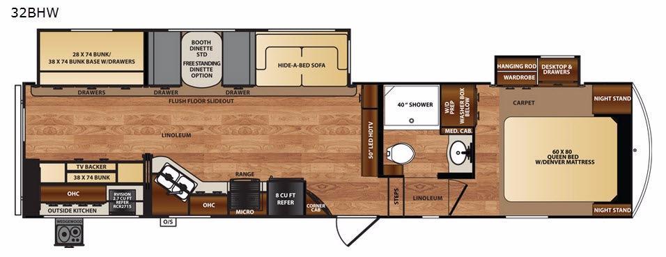 Black Diamond 32BHW Floorplan Image