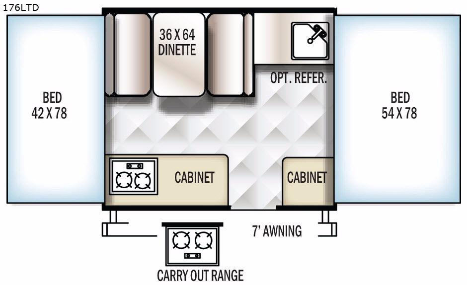Flagstaff MACLTD Series 176LTD Floorplan Image