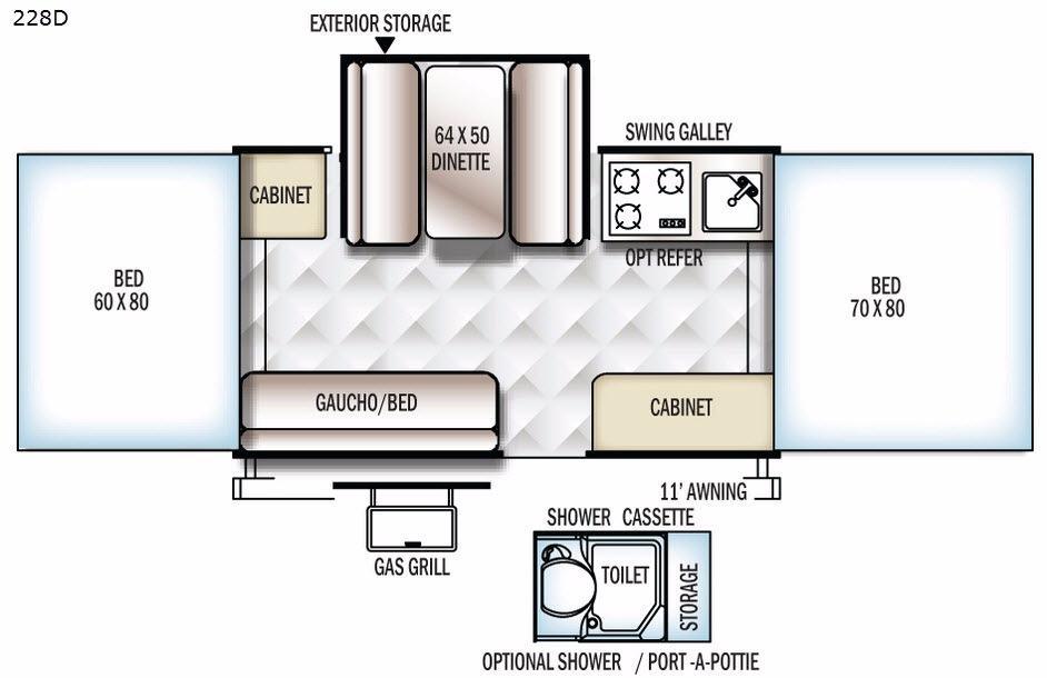 Flagstaff MACLTD Series 228D Floorplan Image