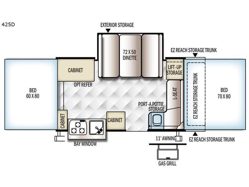 Flagstaff Classic 425D Floorplan Image