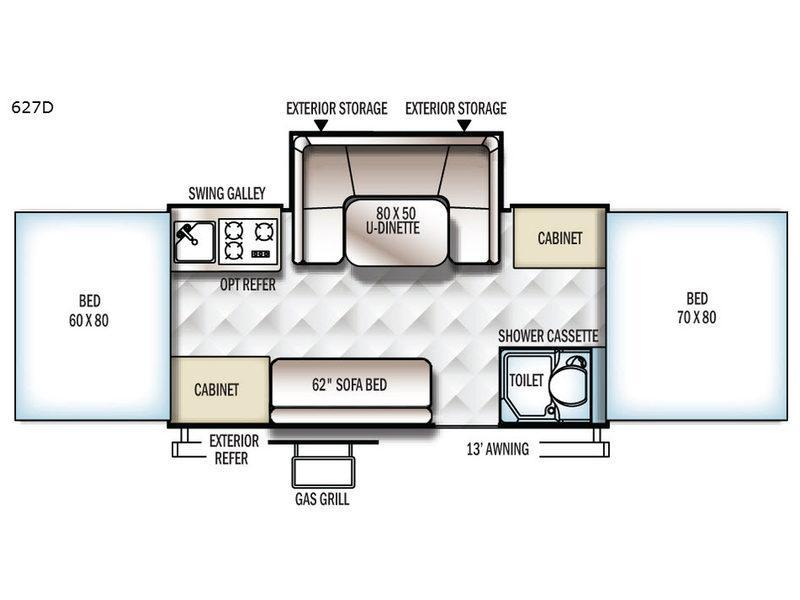 Flagstaff Classic 627D Floorplan Image