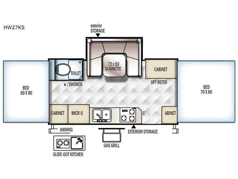 Flagstaff High Wall HW27KS Floorplan Image