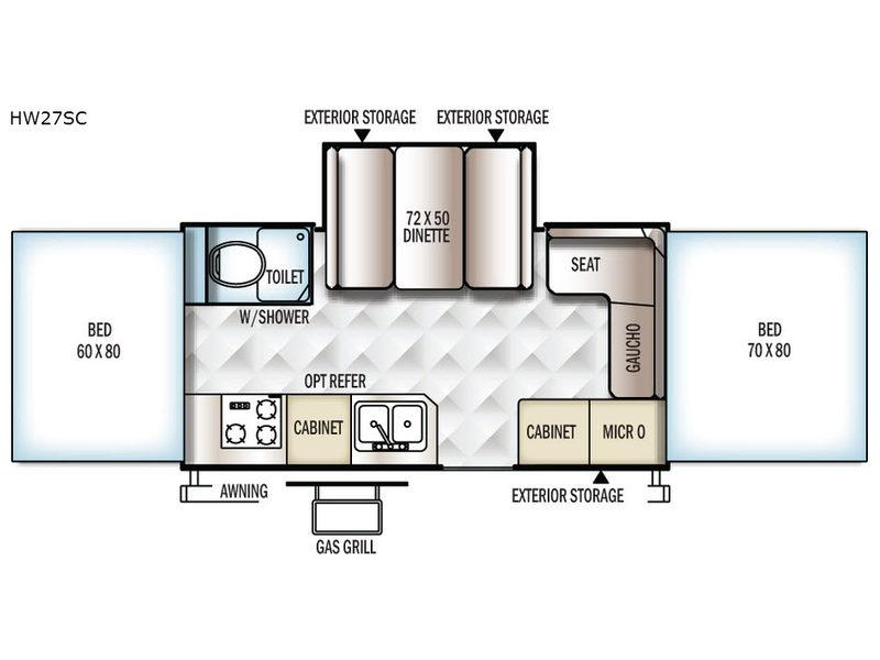 Flagstaff High Wall HW27SC Floorplan Image