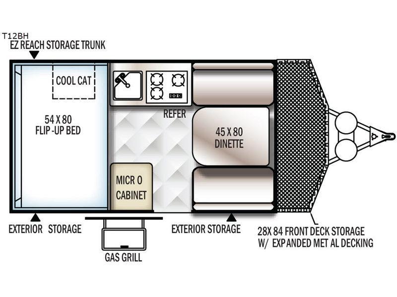 Flagstaff Hard Side T12BH Floorplan Image