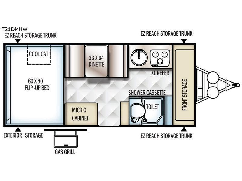 Flagstaff Hard Side High Wall Series 21DMHW Floorplan Image